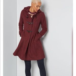 MODCLOTH Set for the Solstice Coat in Wine
